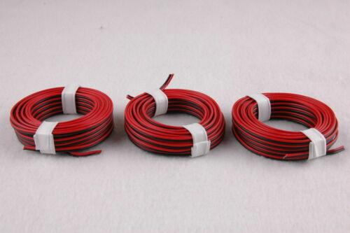 NEW * 1m = 0,397 € EUR Twin Braid Red//Black 3 x 5m