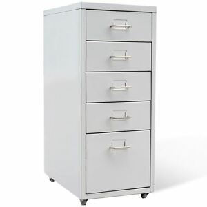Image Is Loading 5 Drawer Metal Filing Cabinet Office Storage Organizer