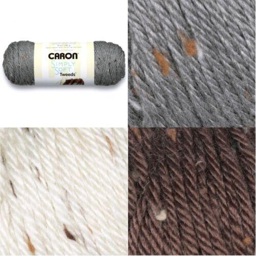 Caron Simply Soft Tweeds Aran Yarn Knitting Crochet Crafts 141g Ball