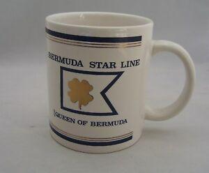 SS Queen Of Bermuda Star Line Cruises Ship Coffee Mug Cup Shamrock - Queen of bermuda cruise ship
