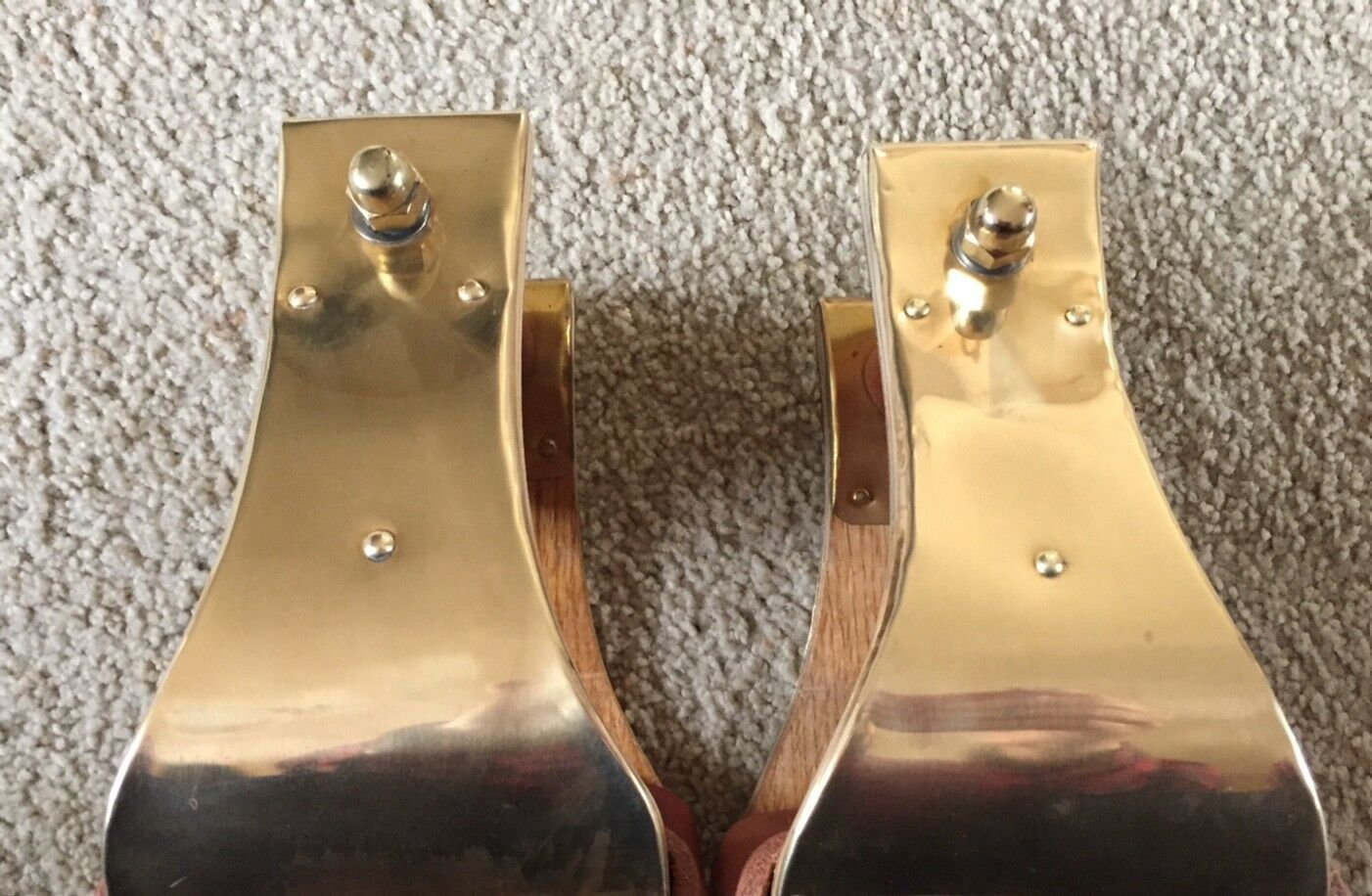 "5"" MONEL BRASS BELL STIRRUPS - USA MADE and EXCELLENT"