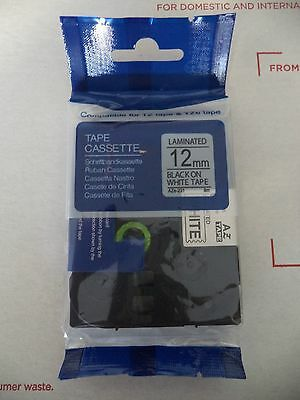 """Office 1 Compatible Black White Label Tape 12mm 1/2"""" Tze 231 Ez Touch Brother Label Making"""
