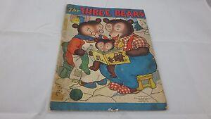 Les-Trois-Bears-par-Whitman-Couverture-Souple-pour-Enfants-Livre-Vintage-1942