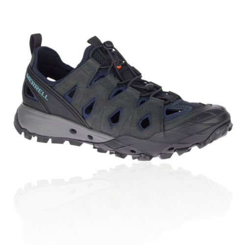 Merrell Mens Choprock Leather Shandal Grey Purple Sports Outdoors Breathable