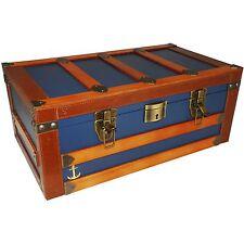 HUMIDOR SUPREME ~ The Admira Cigar Humidor ~ 120 Cigar Blue Trunk Style Humidor