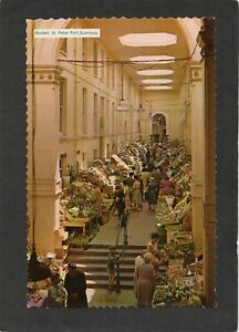 Market at St Peter Port, GUERNSEY, Channel Islands. Publ:-Photo Greeting Card Co