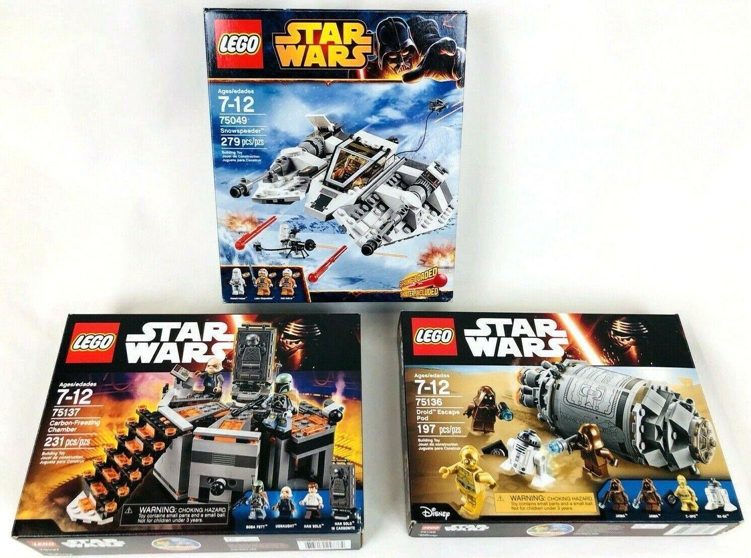all'ingrosso economico e di alta qualità Lego Estrella Guerras Guerras Guerras Lot 75137 autobon gratuitozing 75136 Droid Escape 75049 Snowspeeder  punti vendita