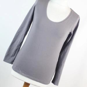 Atmosphere-Womens-Size-12-Grey-Plain-Cotton-Blend-Basic-Tee