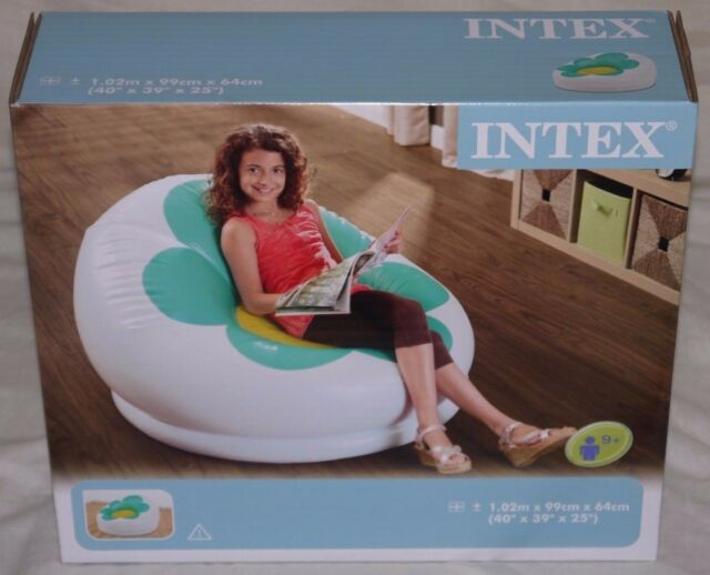 Intex INFLATABLE BLOSSOM CHAIR Turquoise colour