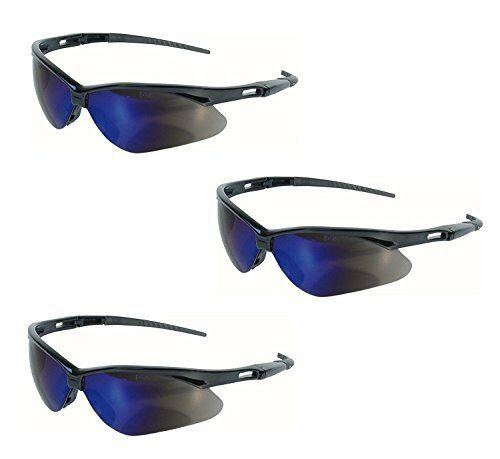48b4bf4b98cb Jackson Safety V30 Nemesis Glasses (14481) Blue Mirror Lenses With Black  Frame for sale online