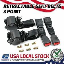 Retractable 3 Point Safety Seat Belt Car Vehicle Adjustable Belt Kit Straps 2 Fits Toyota