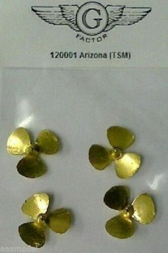 G Factor 1//200 USS Arizona Brass Propellers 120001 for Trumpeter