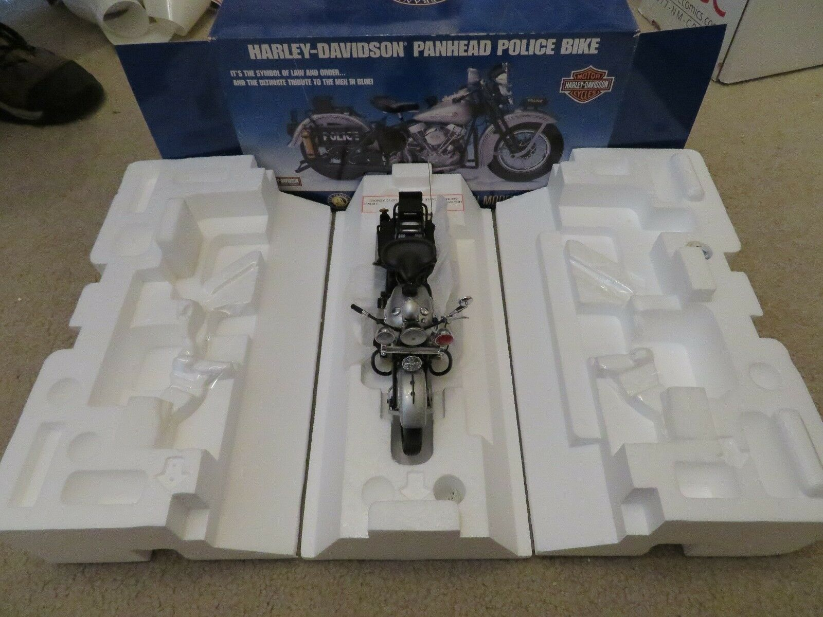 Franklin Comme neuf Harley Davidson Panehead Police vélo moto 1 10 Comme neuf IN BOX 2003