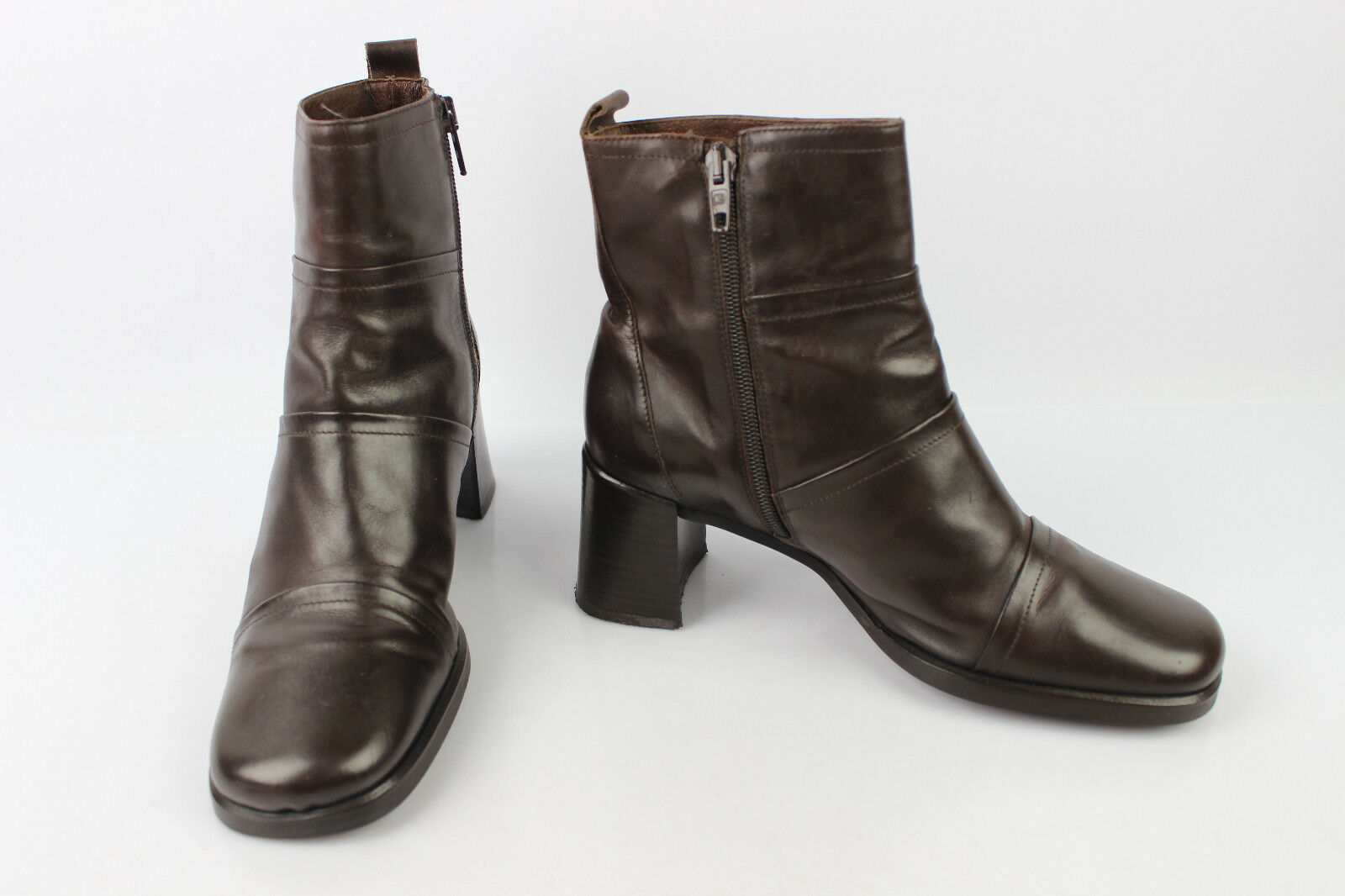 VINTAGE Boots SAN MARINA Brown Leather Leather Leather T 37 VERY GOOD CONDITION 45568d