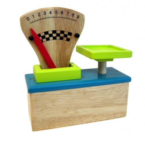# ESTIA 600126 épicerie balance pointeur balance turquoise//vert clair en bois NOUVEAU