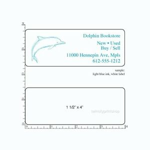 Details about Custom Printed Stickers 250 Rectangle Business Labels 1-Color  ink, 1-1/2
