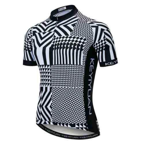 Reflective Cycling Jersey Men/'s Coolmax Short Sleeve Cycle Shirt with Zip Pocket