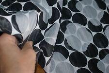 6m x 1.42m wide 'MONO CIRCLE SHIMMER' Medium Weight Jacquard Fabric