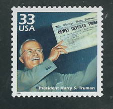 Scott #3186-d...33 Cent...Celebrate..1940's...Harry Truman...10 Stamps