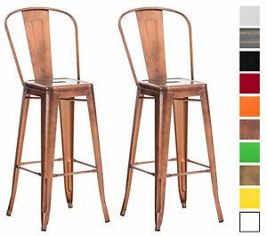 Set 2 sgabelli industriali aiden schienale sedie sgabelli for Sedie cucina metallo