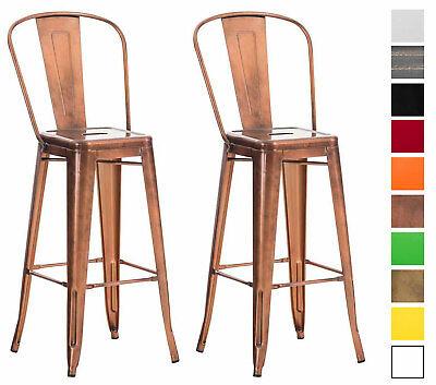 Set 2 sgabelli industriali aiden schienale sedie sgabelli for Sedie particolari