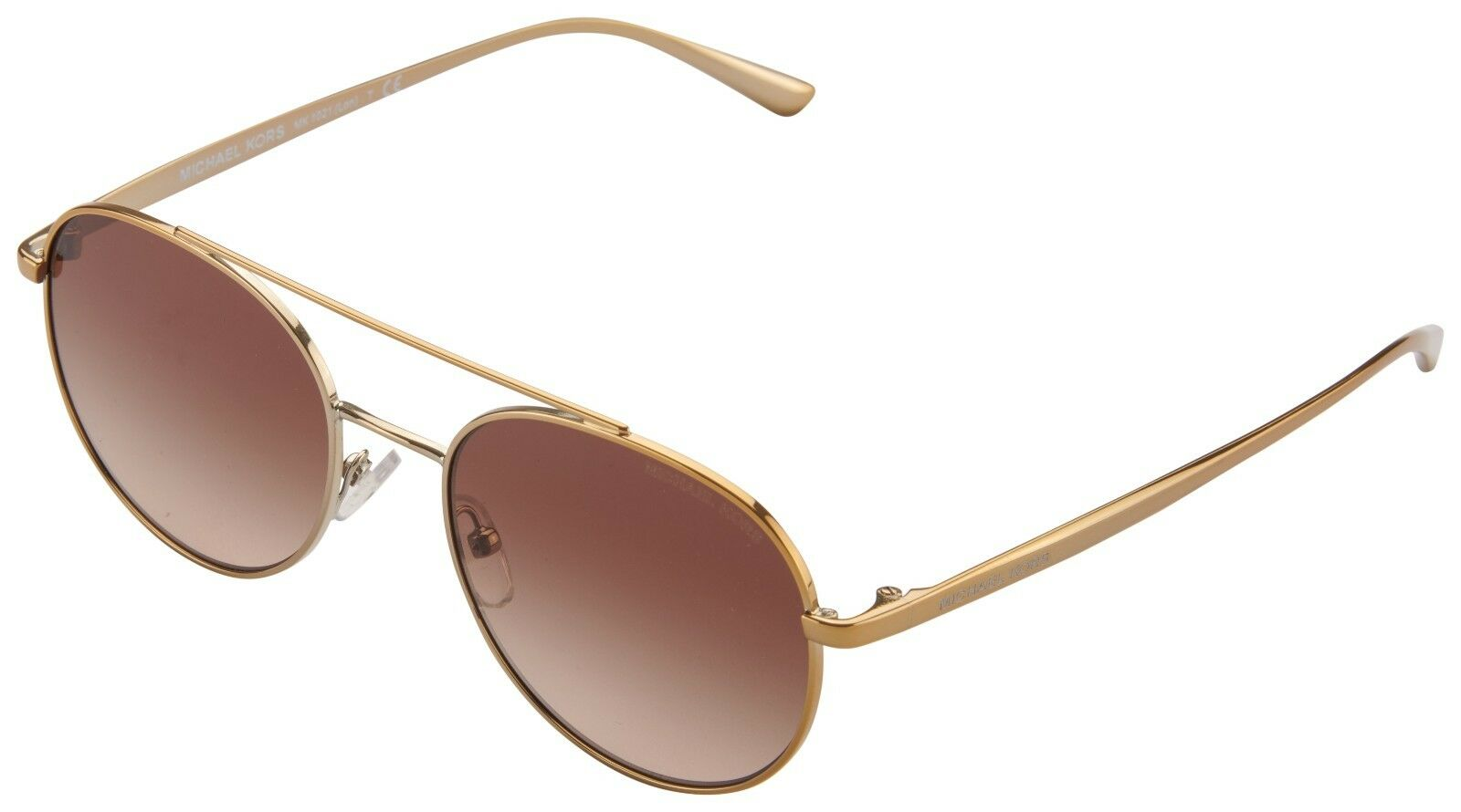 Michael Kors Sunglasses MK 5016 10245a Gold Tone Bronze Mirrored 56 Mm