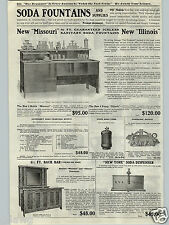 1917 PAPER AD New Missouri Illinois Soda Fountain Iceless 6' Wood Back Bar