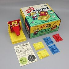 Vtg 1962 Play-Doh Forge Press with Farm Animals Molds Store Display Box