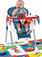 Sesame Street 1st Birthday High Chair Decorating Kit First Party Supplies 2pc