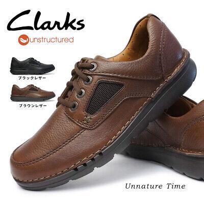 Clarks Mens UNNATURE TIME , Black Lea