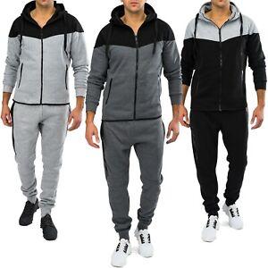Survetement-le-sport-costume-Zip-Men-Fitness-Sport-Loisirs-Mode-Set-de-jogging