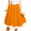 Girls GREASE Costume Child 1950s Circle Skirt Rock N Roll COSTUME SANDY SKIRT