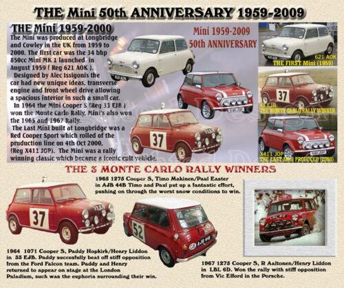 NEW BMC Mini 50th ANNIVERSARY CLASSIC CAR MOUSE MAT