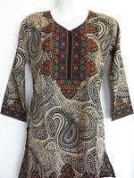 Indian Designer Crepe Bollywood Kurti Ethnic Top Kurtis Tunics For Women Med