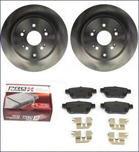 Brake-Discs-Brake-Pads-Rear-for-Honda-Ridgeline-2006-2013