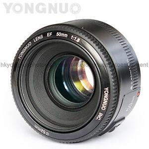 Details about Yongnuo EF 50mm F/1 8 Standard Prime Lens for Canon 800D 750D  700D 650D 600D