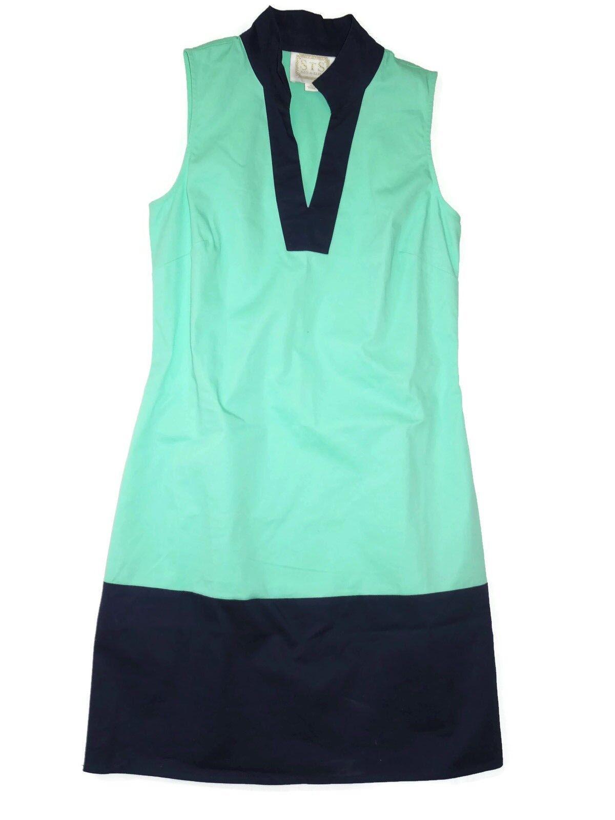 Sail to Sable  classic sleeveless sheath dress Größe XS retail  aqua & navy