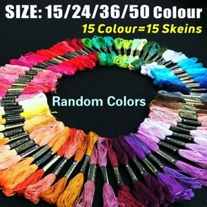 50pcs-Multi-Colors-Cross-Stitch-Cotton-Embroidery-Thread-Floss-Sewing-Skeins-New