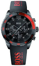 Hugo Boss Watch, Men's Chronograph Red and Black Silicone Strap 44mm 1512901
