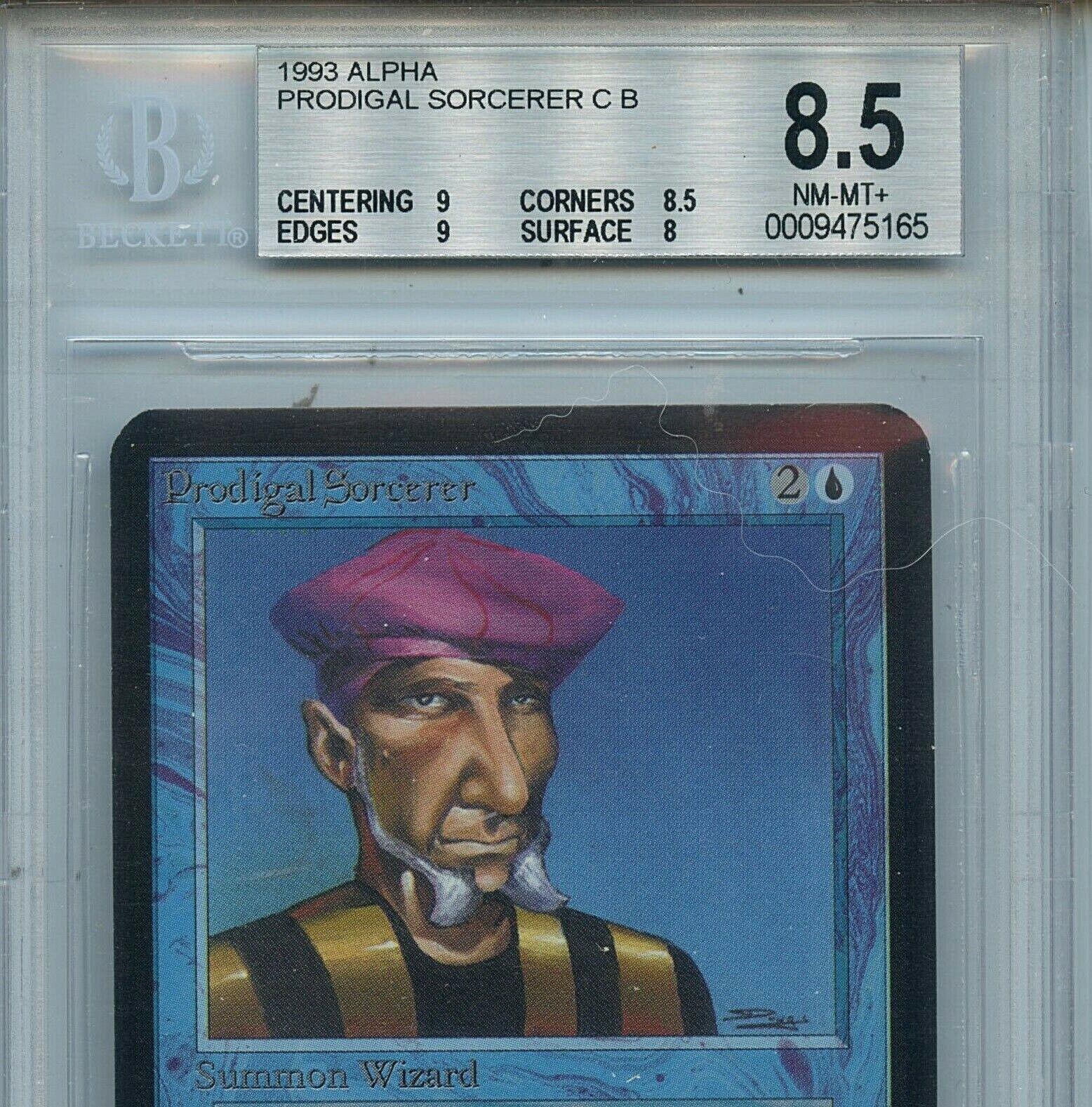 MTG Alpha Prodigal Sorcerer BGS 8.5 8.5 8.5 NM-MT+ card Magic Amricons 5165 050f5b
