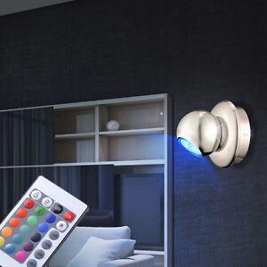 led wandlampe rgb fernbedienung farbwechsel schlafzimmer spot leuchte dimmbar ebay. Black Bedroom Furniture Sets. Home Design Ideas