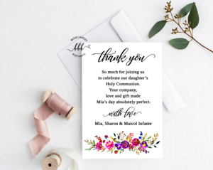 Thank You Cards 10 Personalised  Wedding Invitations