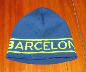 0deb74712 Details about Nike FC Barcelona knit beanie hat blue / neon yellow