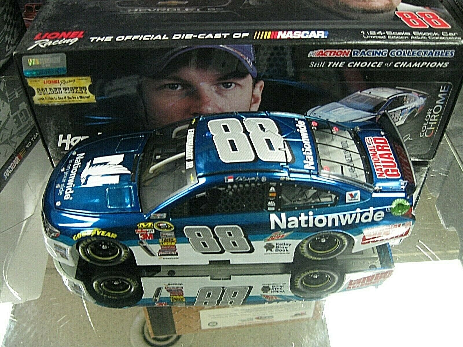 RARE  2014 DALE EARNHARDT JR NATIONWIDE INSURANCE COLOR CHROME OF ONLY 72