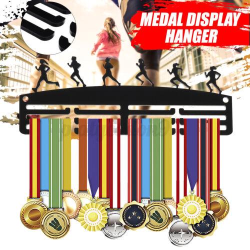 FEMALE RUNNER Acrylic Personalised 3 Tier Sport Medal Hanger Holder Display Rack