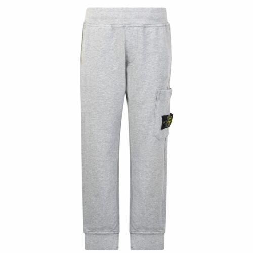 Stone Island Kids Boys Junior Badge Jogging Bottoms Fleece Trousers Pants Cotton