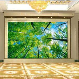 Arriba-con-la-rama-circulos-3D-Lleno-Pared-Mural-Foto-Papel-Pintado-Impresion