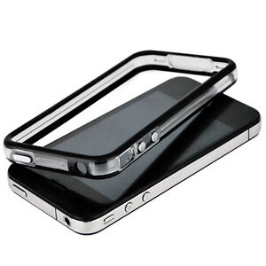 iPhone-4-4S-Bumper-Schutz-Huelle-Cover-Transparent-fuer-Rahmen-Case-Silikon-TPU