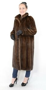 A1010-saga-Mink-abrigo-vison-abrigo-de-piel-vison-Pelz-abrigo-Female-Mink-fur-Coat