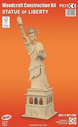 STATUE OF LIBERTY Woodcraft Construction Kit Wooden 3D Model Puzzle ADULT//KIDS